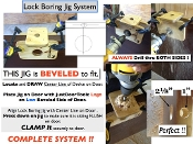 "LOCK BORING JIG KIT (2-3/4"" BACKSET FOR 1-3/4"" THICK DOORS)"