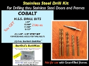 Stainless Steel DRILLING KIT.....INCLUDES 9 BITS !!