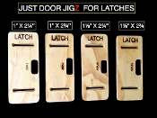 JUST DOOR JIGZ FOR LATCHES & FACEPLATES (ROUTER BIT INCLUDED !!)